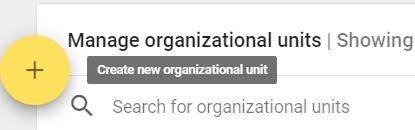 Manage organizational units
